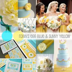 Wedding Fanatic- Robin's Egg Blue and Sunny Yellow- great colours!