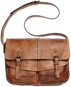 Messenger Bag - Not sure how I feel about the gold/bronze studs, but I like the overall style