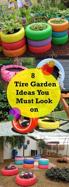 DIY ideas using tires in your garden