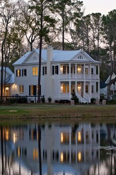 Dusk Reflection, Charleston, South Carolina photo via allison!!! Bebe'!!! Beautiful reflection of a dream house!!!