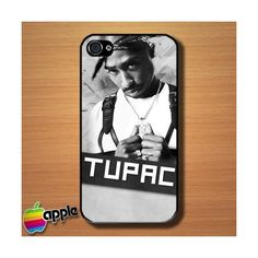 Tupac Shakur 2Pac Custom iPhone 4 or 4S Case Cover Merchanstore ($12) ❤ liked on Polyvore