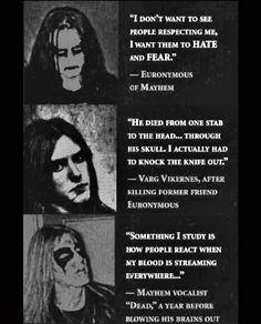 Metal Evolution, Mayhem Band, Metal Meme, Kerry King, Favorite Movie Quotes, Extreme Metal, Nu Metal, Black Death, Power Metal