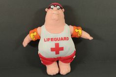 "The Family Guy Peter Griffin Life Guard Plush Stuffed Doll 8"" Tall by Nanco in Toys & Hobbies, TV, Movie & Character Toys, Family Guy 