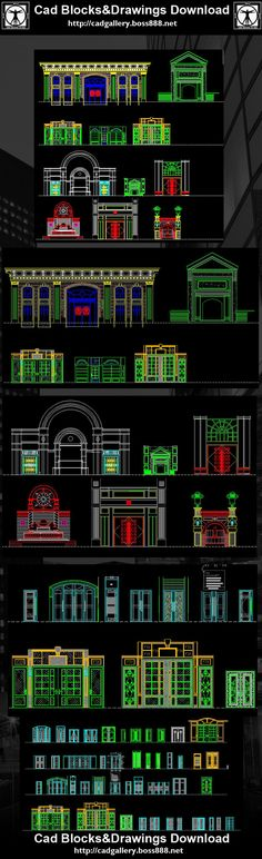 Download Free Cad Blocks and Drawings now!! (https://www.cadblocksdownload.com/)Entrance Design Details Building Entrance Details Gate & Entrance CAD drawings downloadable in dwg format