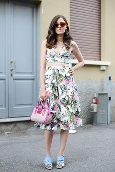 Street Style de Milan para un look ícono de verano. www.vogue.mx/galerias/moda-en-la-calle-street-style-inspiracion-verano-2013/2189/image/1193023