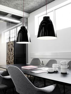 Pendant lamp / contemporary / metal / black CARAVAGGIO by Cecilie Manz Lightyears