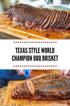 Style World Champion BBQ Brisket - Texas Style BBQ World Champion Brisket Recipe using Head Country BBQ sauce -Texas Style World Champion BBQ Brisket - Texas Style BBQ World Champion Brisket Recipe using Head Country BBQ sauce - Bbq Ribs, Bbq Brisket, Smoked Beef Brisket, Texas Brisket, Brisket On The Grill, Green Egg Brisket, Smoked Pork, Pork Ribs, Best Bbq Recipes