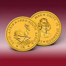 Goldmünze 2 Rand Südafrika