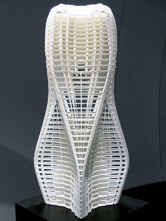 "Zaha Hadid's exposition ""mobile art"" at the institut du monde arabe. Paris. July 2011"