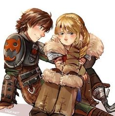 hiccup and astrid fan art - Google Search