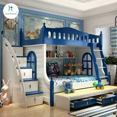 Online Shop Loiuis Fashion Children Beds Multifunction Combination of Adult Cot Bunk Bed Mediterranean Style | Aliexpress Mobile