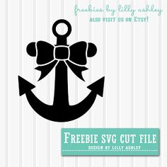 Freebie Bow Anchor SVG cutting file!