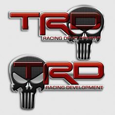 Toyota TRD Off Road Racing Development Skull Truck Decals Tundra Trd Pro, Toyota Tundra Trd, Toyota 4runner, Custom Truck Decals, Custom Trucks, Punisher Skull Decal, Trd Pro Wheels, Tacoma Parts, Black Edition