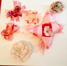 Handmade hair clips and brooches