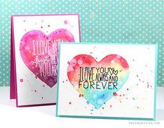 kristina werner design carte card i love you je t'aime coeur heart