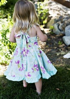 The Twirly Dress (Size 1 to Sewing E-Pattern and Tutorial Toddler Maxi Dresses, Toddler Dress Patterns, Childrens Sewing Patterns, Pdf Sewing Patterns, Girls Dresses, Summer Dresses, Sewing Ideas, Sewing Projects, Clothes Patterns