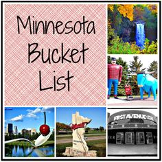 THANKS LINDSEY! Minnesota Bucket List ~ I love this girls ideas these are some great places to see and things to do before I don't live here anymore. :)