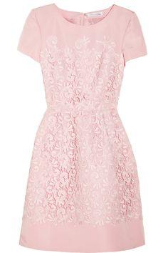 Oscar de la Renta pink lace dress