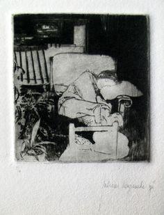 Andreas Vanpoucke, flemish etcher - Sleeping figure