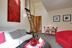 Living Room plus Loft at Radford Court. I like the loft!