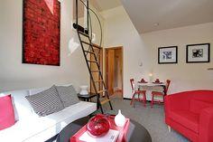 Living Room plus Loft at Radford Court.
