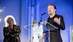 Ricky Gervais was lauded at the Daily Mirror's Animal Hero Awards, where he was given an award for Outstanding Contribution to Animal Welfare.