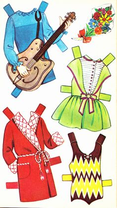 Penny Cut Out Doll Dressing Storybook (5 of 6), 1950s, Sandles