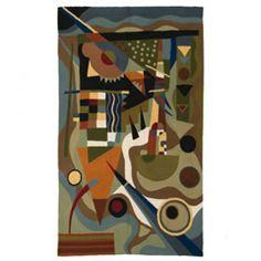 Kandinsky Abstraction Rug W180 x D120 cm - Casafina