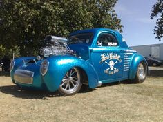 """""""Headhunter"""" Willys coupe blue"""