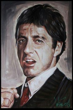 Scarface - Portrait of Al Pacino as Tony Montana #GangsterMovie #GangsterFlick