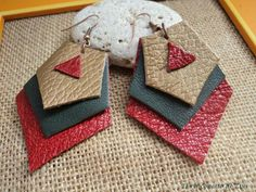 pendientes de cuero de El rinconcito de Zivi por DaWanda.com