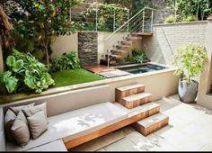 Jardim pequeno para relaxar