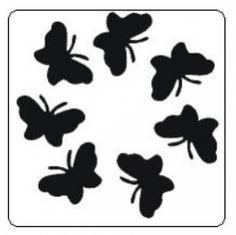 Sjabloon Glittertattoo `Vlinders`