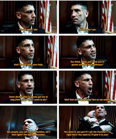 """""""You want it, you got it! I am the Punisher! I'm right here! You want it; I'll give it to you!"""" - Frank Castle #Daredevil"""