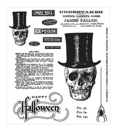 Replicating the quirky speech bubbles of comic books, the Stampers Anonymous Tim Holtz Undertaker Cling Rubber Stamp Set is a fun choice for all comic lovers. This pack contains stamps that feature va Punch Storage, Stamp Storage, Easy Storage, Halloween Themes, Halloween Crafts, Halloween Tags, Halloween Stuff, Tim Holtz Stamps, Stampers Anonymous