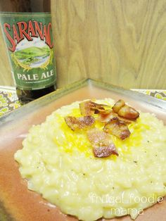 Beer Cheese Risotto with Bacon from Frugal Foodie Mama #GYCO #risotto #beer