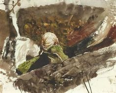 Andrew Wyeth - study for In the Orchard (1979) [Helga Testorf]