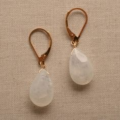 moonstone earrings gold earrings bridal earrings wedding by izuly, $49.00