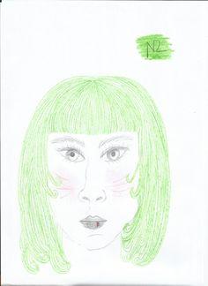 Moça verde² Olhos diágonos
