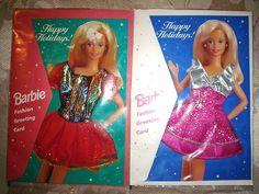 1995 Barbie Doll Fashion Greeting Cards w/ Dresses by Mattel