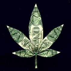 Dollar Bill Marijuana Pot Leaf