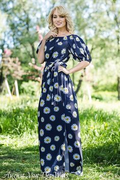 """Designer womens dresses """" SummerColor"""" This a VERY BEAUTYFUL maxi #dress with Floral Print. off shoulder  100% Viscose. Exclusive colors! Limited amount ! High quality fabric and sewing!  You can w... #dresses #clothing #fashion #eveningdress"""