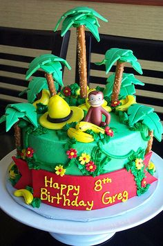 Curious George Jungle Cake - LOVE.  Now this looks fun!