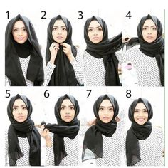 Here's a great how-to on the coveted Turkish hijab, best hijab style people Hijab Chic, Hijab Musulman, Hijab Stile, Casual Hijab Outfit, Muslim Hijab, Mode Hijab, Turban Hijab, Square Hijab Tutorial, Simple Hijab Tutorial