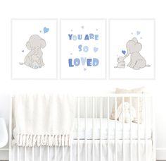 Boy Nursery Wall Art Blue Baby