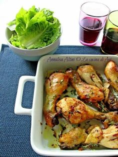 pollo-marinato-al-forno-La-cucina-di-ASI-2015-blog altini Meat Recipes, Chicken Recipes, Healthy Recipes, Chicken Macaroni Salad, Beef Skillet Recipe, Marinated Chicken Thighs, Fish And Meat, Easy Delicious Recipes, Light Recipes
