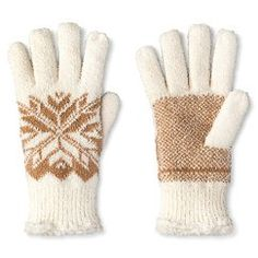 Impressions By Isotoner® Women's Snowflake Gloves - Ivory