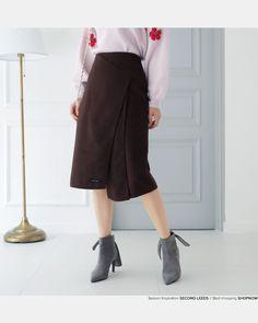 ラップテイストスリットスカート・全3色