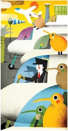 Philip Giordano - illustration for Monocle mag