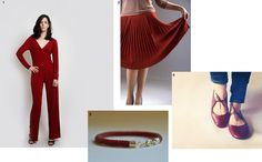 donauluft: suggested styling - ready for red? Red Jumpsuit, Knit Skirt, Ruby Red, Skirts, Handmade, Shopping, Beautiful, Link, Style